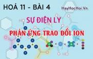 Điều kiện phản ứng trao đổi ion trong dung dịch các chất điện ly - hoá 11 bài 4